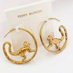 SOLDTory Burch Hoop Earrings Playful Monkey New